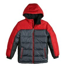 NWT Boys ZeroXposur Myriad-Puffer Jacket W/ Hood Red/Gray/Black Size Large 14/16