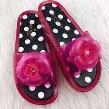 kate spade Splash Pink Swirl Transparent Jelly Slide Sandal Polka Dot sz 7 $128
