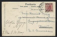 1906 Austria Offices in Turkey Scott #40 on Postcard – Constantinople to USA