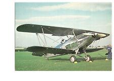 Postcard Hawker Hind bi plane Old Warden   (B4l)