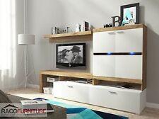 Wall Unit TV Display cabinet Living Room Set EVITA LED Furniture  Free P&P
