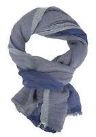 Ella Jonte Men's Scarf Blue or Red Lightweight Cotton Scarf Spring Summer