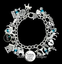 ~DOG THEMED PERSONALISED CHARM BRACELET, CUSTOM, PUPPY ~