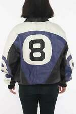 Magic 8 Ball Leather Jacket 90s Seinfeld Puddy Jacket Michael Hoban Wheremi MOTO