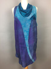 Women's TOPSHOP Vintage Sleeveless Cowlneck Dress. UK 10, Blue/Purple.