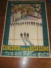 MANIFESTO 4f,Concerto per un assassino,mort d'un tuer,BRINI,1964,Hossein,Andreu,