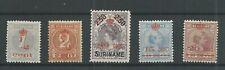 Suriname 60-64  KROONTJES-OPDRUK  MH/ongebr  CV 276 €
