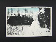 Munising Falls In Winter Munising Michigan Postcard