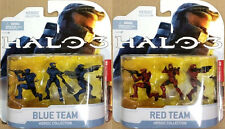 LOT OF MCFARLANE TOYS HALO 3 HEROIC COLLECTION RED & BLUE TEAM 6 FIGURE SET MOC!