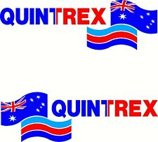 Quintrex Aussie Flag , Fishing Boat Mirrored Sticker Decal Set of 2