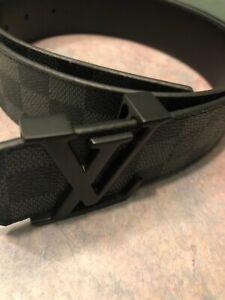 Mens Louis Vuitton Belt Black