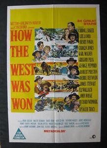 HOW THE WEST WAS WON '63 Orig Australian movie poster John Wayne Debbie Reynolds