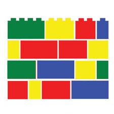 48 x Lego brick block Set Children's Vinyl Wall Art Sticker Decal Bedroom 020