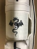 Giuseppe 3x3 Custom White Croc Pool Cue Case w/ Yin Yang Dragon FREE Shipping