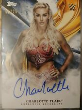 Charlotte Flair Autograph Card 06/25 Blue Parallel WWE Undisputed 2019 Topps