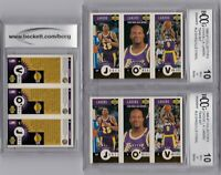 (2) SHAQUILLE O'NEAL LA LAKERS GRADED BCCG 10 1996 UPPER DECK SHAQ GOLD TEAM SET