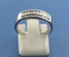 14K WHITE GOLD DIAMOND BAND PRINCESS CUT .50CT SIZE 7