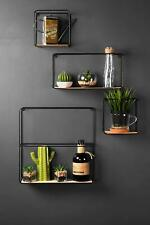 Set of 4 Retro Industrial Style Wall Shelves Wall Shelf Display Hanging Shelving
