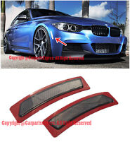 Crystal SMOKE Bumper Reflector Side Marker Lights For 13-15 BMW F30 F31 3-Series