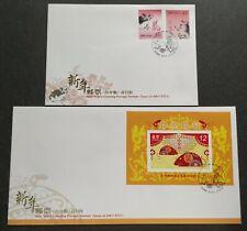 Taiwan 2007 (2008) Zodiac Lunar New Year Rat Stamps & MS 2 FDC 台湾生肖鼠年邮票+小型张2个首日封