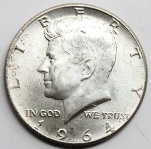 USA ESTADOS UNIDOS 1964 KENIDY HALF DOLLAR MONEDA PLATA SC