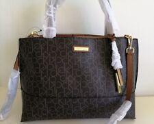 Calvin Klein brown multi Large satchel bag shoulder bag