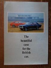 MORRIS MARINA RANGE orig 1971 Rare Export Market Brochure in English - BL 2867/A