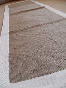 New INDIAN KILIM KELIM Jute Cream BISCUIT Natural HAND WOVEN Carpet Rug Runner