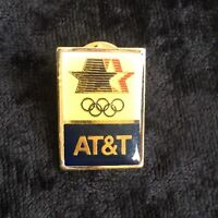 Vintage 1980 Olympic Pin Team USA AT&T