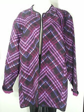 CATHERINES QUILTED OPEN FRONT JACKET  5X 34-36 PLUS SIZE LIGHT WEIGHT JACKET