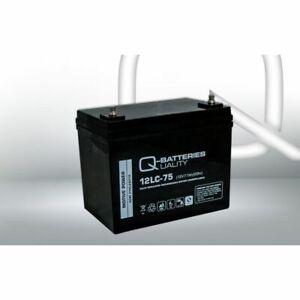 Q-Batteries 12LC-75 / 12V - 77Ah Blei Akku Zyklentyp AGM - Deep Cycle VRLA