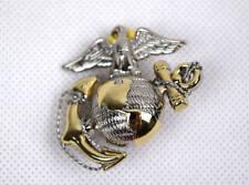 US Marine Corps USMC Emblem Cap Badge Metal Silver