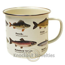 Enamel Mug - Multi Fish Coffee Drink Warm Gift Cup Beverage Holder Hot Nature