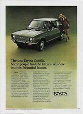 1970 Toyota Corolla Sedan Fastback Wagon Original Vintage Color Print Ad