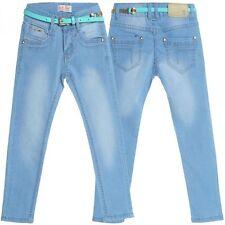 Markenlose Mädchen-Jeans mit geradem Bein aus Baumwollmischung