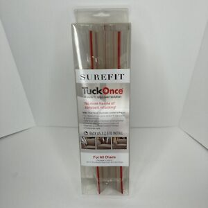 """Sure Fit Tuck Once Chair Slipcover Grips 4x 11.75"""" Back Strips & 2x 6"""" Arm Strip"""