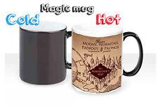 Harry Potter Marauder's Map Color Changing Magic black heat Coffee Mug