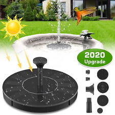 Solar Powered Fountain Water Pump Floating Bird Bath Garden Outdoor Pond Pool Us
