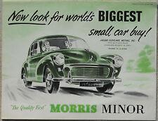 Morris Minor & Traveller English market 1955 Printed fold out brochure