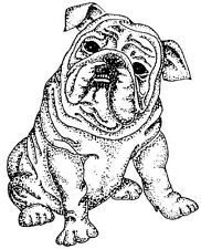 Wood Mounted Rubber Stamps, Canine, Dogs, Dog Stamps, Bulldog Stamps, Bulldogs
