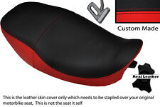 BRIGHT RED & BLACK CUSTOM FITS KAWASAKI ZR 550 ZEPHYR 91-98 DUAL SEAT COVER
