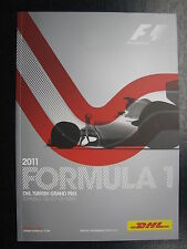 Program 2011 Formula 1 DHL Turkisch Grand Prix 6-8 May Istanbul (PBE)