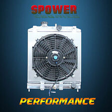 Aluminum Radiator + Fan Shroud For Honda Civic EG EK B16 B18 Manual MT 1992-2000