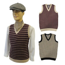 Mens Vintage style  1930's 40's WW2 Wartime  knit slip over Tank Top