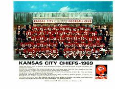 KANSAS CITY CHIEFS 8X10 TEAM PHOTOS LOT OF 4  1969 1968 1967 1964 FOOTBALL