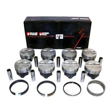 Chevy 400 Flat Top Pistons + Moly Rings Kit 040 SBC 408