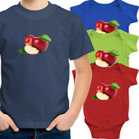 Toddler Kid Tee Shirt Infant Baby Bodysuit Jumpsuit Clothes Gift Red Apple Fruit