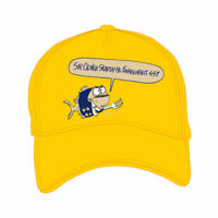 """Cappellino """"Piragna"""" by Vauro - SIR OLIVER SKARDY - giallo"""