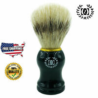 BOAR BRISTLE HAIR SHAVING BRUSH FOR MEN WET SHAVE THICK LATHER HAND MADE IN USA