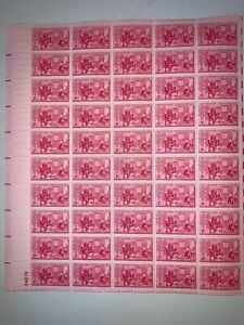 US Stamps SC# 1004 Betsy Ross 3c sheet of 50 MNH 1952